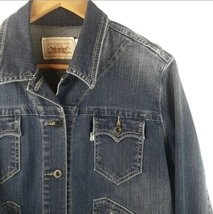 Levi's Jean Jacket Organic Cotton Western Large